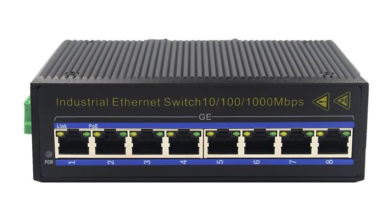 千兆8电(卡轨式)工业以太网交换机