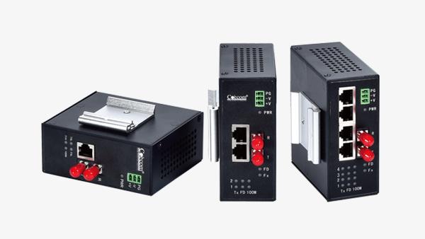 工业卡轨式百兆收发器COE7001K/COE7002K/COE7004K