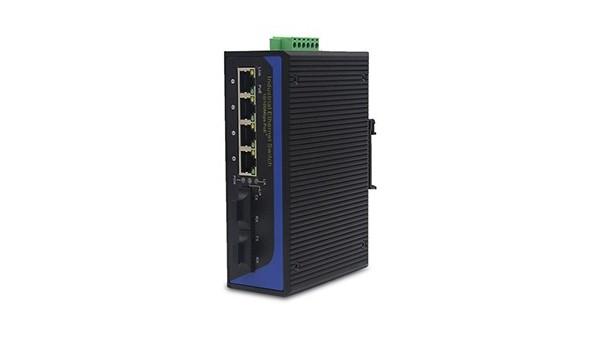 百兆2光4电(卡轨式)工业以太网交换机