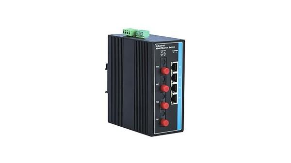 百兆4光4电(卡轨式)工业以太网交换机