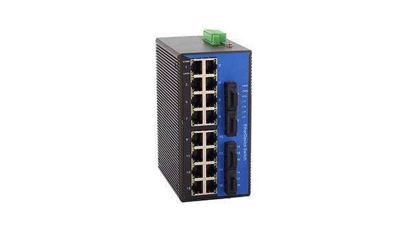 百兆4光16电ADC(卡轨式)工业以太网交换机