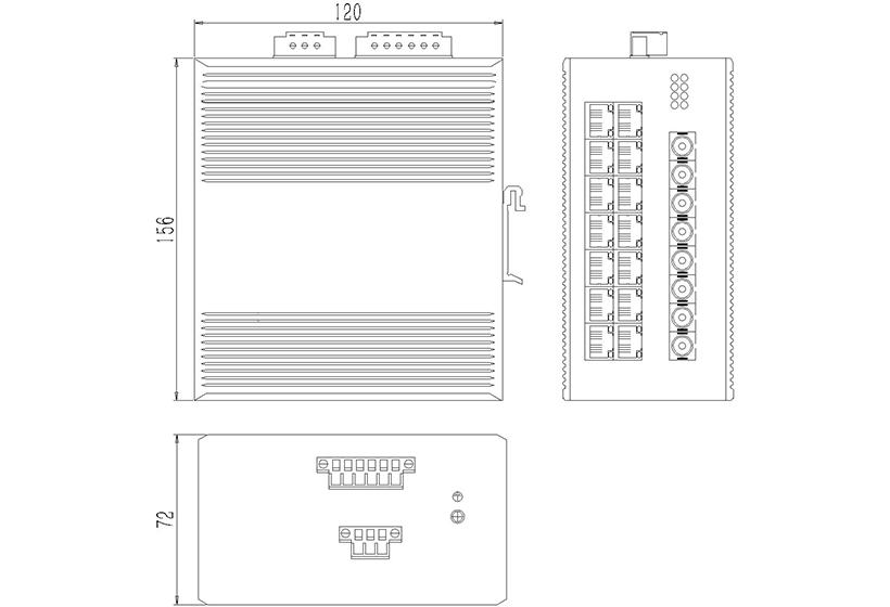 百兆4光16电ADC-外形尺寸