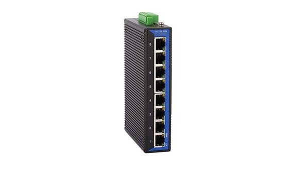 百兆8电ADC(卡轨式)工业以太网交换机